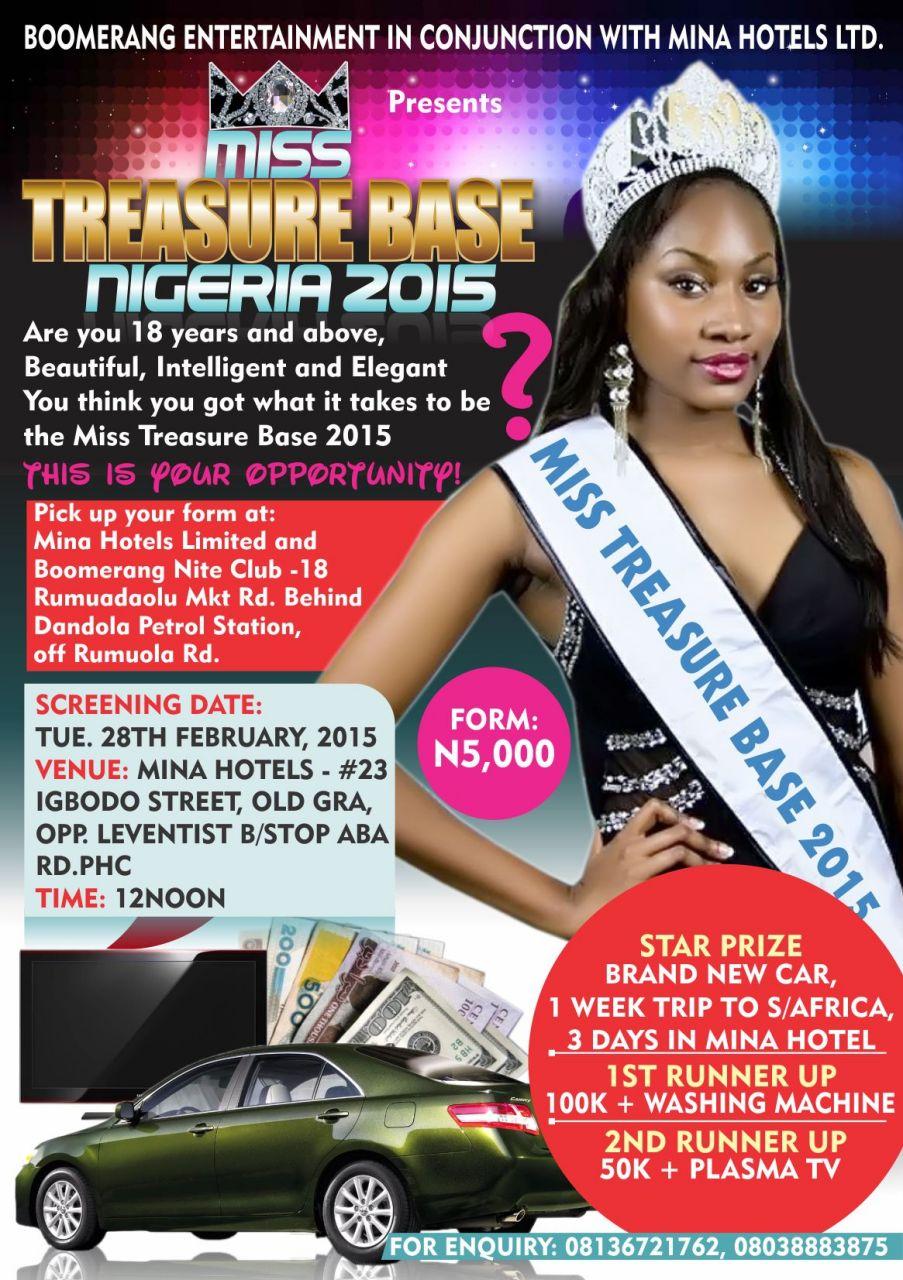 Miss Treasure Base 2015
