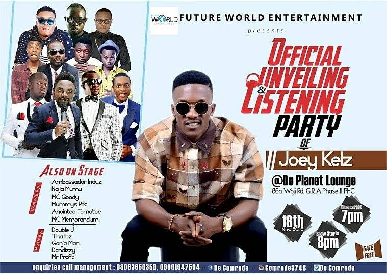 Event: Future World Entertainment Presents Joey Kelz Official Unveiling & Listening Party
