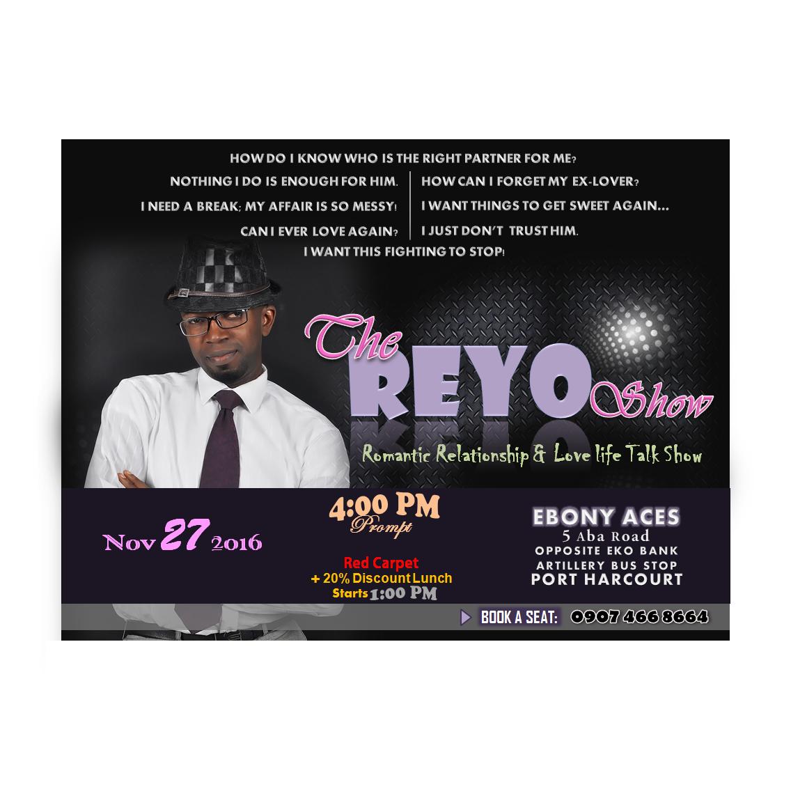 Talk Show: The Reyo ShowPremiering