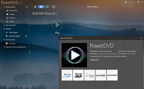 PowerDVD 17 Ultra Crack
